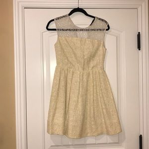 Zara tweed/crochet dress